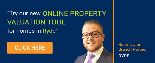 Online Valuation Tool website banner Ryde