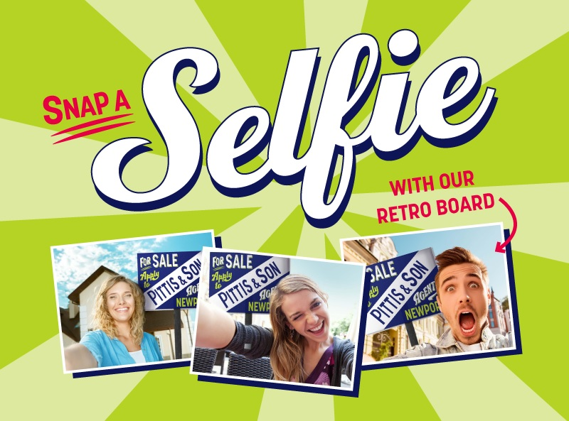 Pittis promotion of people taking selfie photos with their retro boards